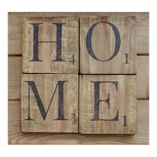 Shabby Chic Wall Decor Home Sign Wooden Scrabble Letterswood Wall Artreclaimed Wood
