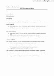 Surgical Nurse Resume Medical Surgical Resume New Medical Surgical Nurse Resume