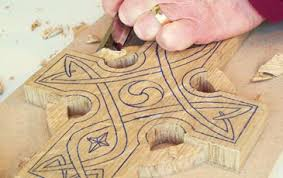 Wood Carving Patterns Interesting Carve And Fume A Celtic Cross Wood Carving Magazine