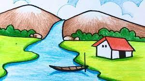 Hướng dẫn vẽ tranh phong cảnh thác nước đơn giản mà đẹp | how to draw  waterfall | Kiến thức hữu dụng nhất liên quan đến chủ đề vẽ tranh - Thiết