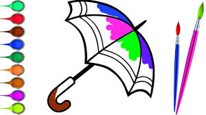 fun coloring page for kids learn colors with umbrella coloring book educational video for children