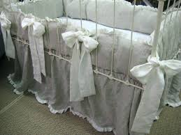 oatmeal and cream linen crib bedding for nursery sets south africa neutral linen crib bedding