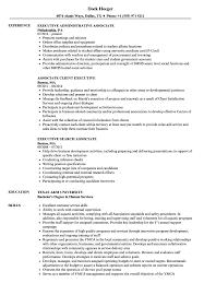 Associate Executive Resume Samples Velvet Jobs