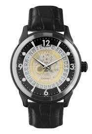 <b>CCCP CCCP</b> Men's <b>Black</b> Genuine Leather Strap Watch - CP-7001 ...