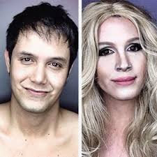 guy transforms his face with makeup to look like female hollywood celebrities you male makeup artists