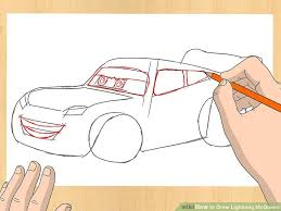 lightning mcqueen drawing. Interesting Drawing Image Titled Draw Lightning McQueen Step 3 Throughout Mcqueen Drawing G