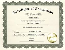 templates for certificates of completion 7 free certificate of completion templated excel pdf formats