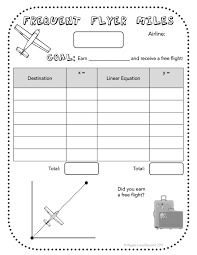 free activity sheet for a fun and engaging way to learn about slope linear equations