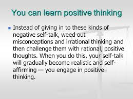 Practice this stress management skill Positive Thinking: - ppt ...