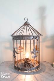DIY Birdcage Lamp in Under 5 Minutes (No Electrical Work Required) | Bless'