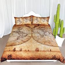 young adult bedding. Unique Bedding ARIGHTEX Vintage Map Bedding 3 Pieces Antique Medieval World Duvet  Cover For Young Adult Kids Travelers Retro Bedclothes Full For I