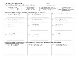 parallel and perpendicular lines practice worksheet