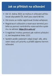 Registrace starších 16 let věku k očkování; Registrace K Ockovani Proti Nemoci Covid 19 Oficialni Stranka Mesta Vizovice