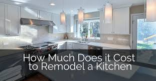 how much is to remodel a kitchen how much does it cost to remodel a kitchen