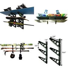 ski snowboard skateboard wakeboard sport storage holder wall mount rack garage