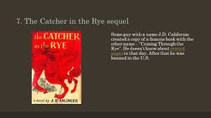 top plagiarism scandals or why you d better reword an essay the catcher in the rye sequel some guy a j d