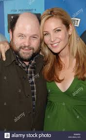 Jason Alexander and Jennifer Westfieldt (writer/star/ex prod) arriving at  the Ira & Abby Premiere at the Festival Theatre in Westwood Los Angeles. Ju  Stock Photo - Alamy