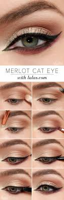 wedding makeup for blue eyes merlot cat eye makeup tutorial step by step makeup