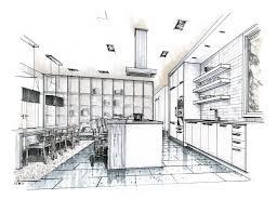 Interior design sketches kitchen Shaped Kitchen Design Sketches Kitchen Kitchen Drawings Unique Interior Kitchen Drawings With Recent Renderings Mick Ricereto Interior Product Zambetinfo Interior Design Kitchen Drawings