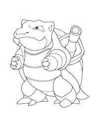 Small Picture 9 Pics Of Mega Blastoise Coloring Page Pokemon For In Pages With