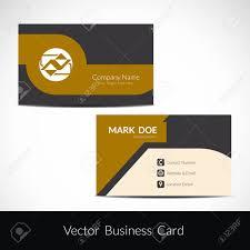 Presentation Of Visiting Card Design Royalty Free Cliparts Vectors