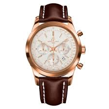 mens gold watches beaverbrooks the jewellers breitling transocean 18ct rose gold chronograph automatic men s watch