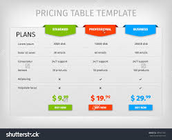 Price Chart Template Business Plan Price Business Plan Pinterest Business Planning 10