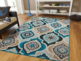 blue and brown area rugs style