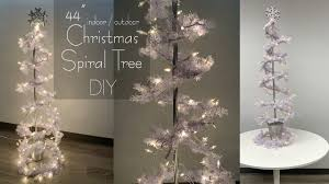 Clear Light Stick Tree Christmas Spiral Tree Indoor Or Outdoor Dollar Tree Diy