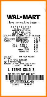 Free Printable Receipt Templates Beauteous Walmart Receipt Template Samancinetonicco