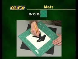 Непрорезаемые <b>коврики OLFA</b> - YouTube