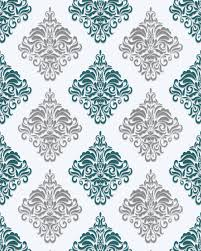Baroque Design Wallpaper Baroque Wallcovering Wall Edem 85024br25 Vinyl Wallpaper Smooth Ornamental Pattern And Metallic Highlights White Turquoise Pearl Gentian Blue Silver