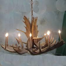 peak great room moose antler chandelier 16 light