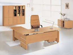 wooden home office desk. Home Office Design Idea With Brown L Shaped Wooden For Swivel Desk Decor 3