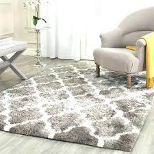 big fluffy rugs black
