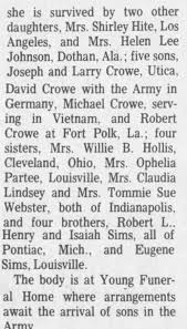 Murder/Obit of Patty Sims Crowe pt. 2 - Newspapers.com