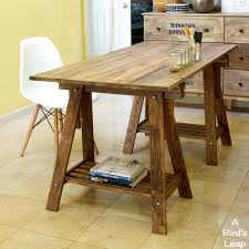 since our dining table is always just under a pile of my projects i decided we need another table or a project desk we bought these vika artur