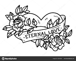 Heart And Ribbon Designs Climbing Rose Tattoo Designs Heart Entwined In Climbing