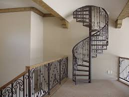 ... Alluring Home Interior Design With Various Wrought Iron Spiral  Staircase Kit : Appealing Image Of Home ...