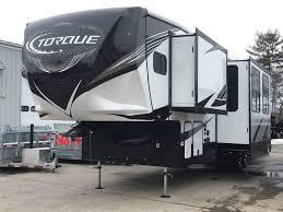 2019 heartland torque 327 toy hauler w 2 slides party deck turner me