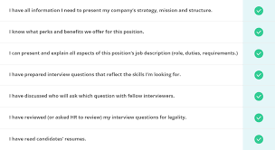 advantages of structured interviews interview checklist for employers how to conduct an interview