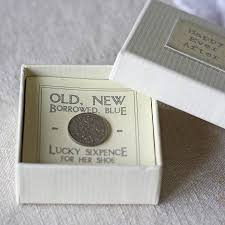 lucky sixpence in gift box by the wedding of my dreams