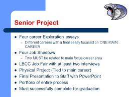 central linn high school new oregon graduation requirement  7 senior project four career exploration essays