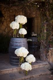 outdoor vintage oak wine barrel wine barrel wedding hydrangeas cherner side chair csc05