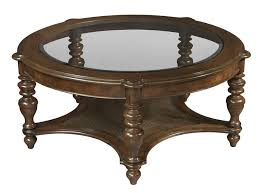 collection in round coffee table with shelf with hekman vintage european round glass top coffee table