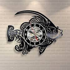 office clock wall. Image Is Loading Fish-Vintage-Handmade-Decor-Vinyl-Record-Clock-Wall- Office Clock Wall E