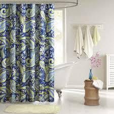 Wayfair Bathroom Accessories Paisley Shower Curtain Blue Green Bathroom Modern Print