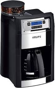 It can also brew a single cup or an entire carafe, making it one of the most flexible coffee makers out there today. Amazon Com Krups Grind And Brew Auto Start Maker With Builtin Burr Coffee Grinder 10 Cups Black Kitchen Dining