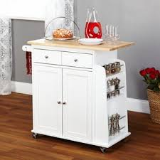 Marvelous Ferraro Kitchen Cart With Wooden Top Great Pictures
