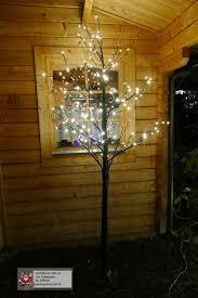 Lichterbaum Schwarz Mit Starkem Stamm Led Baum 200 Cm Hoch